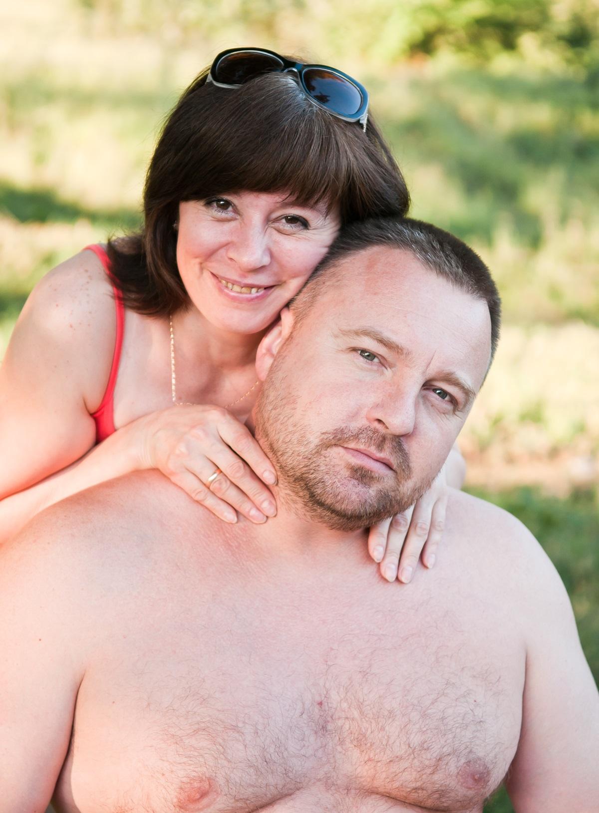 Overvægtig mand og kone