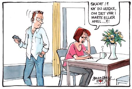 Til Stregen, Berlingske Tidende, Tegner: Jens Hage